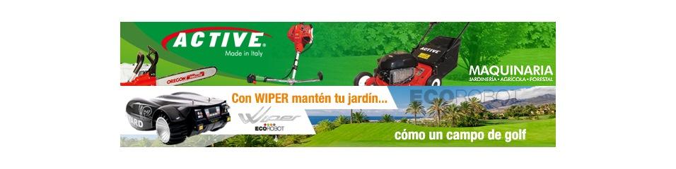 Maquinaria jardinería ACTIVE y WIPER